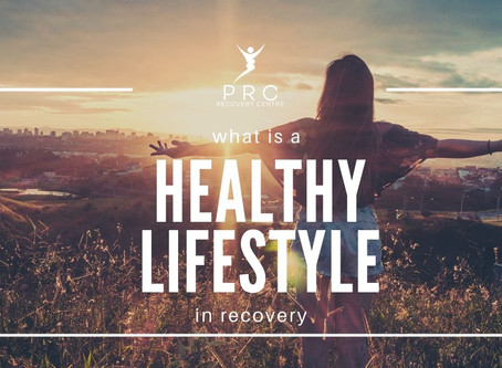 What is a healthy lifestyle in recovery?
