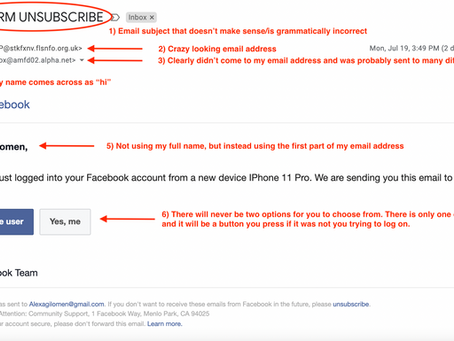 Avoid this email scam and secure your facebook account