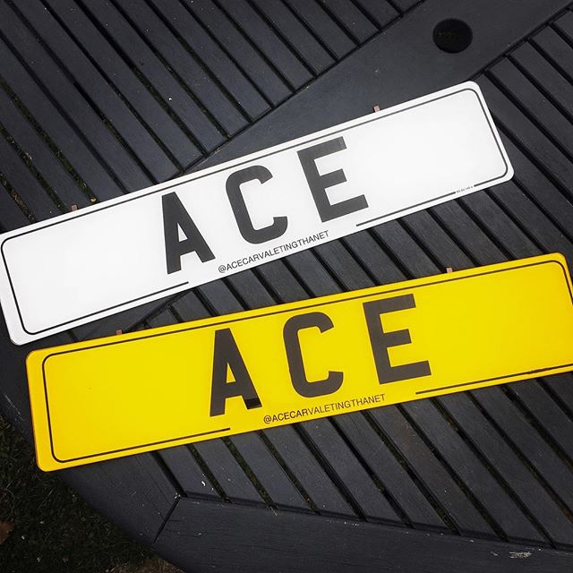 New hook on number plates created for ACE, super pleased with the results , they look awesome! 😍