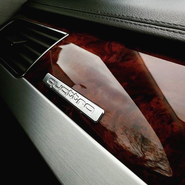 Loving the interior finish on this Audi Quattro A8_#audi #a8 #quattro #audilove #luxury #valet #marg