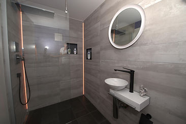 Stylische Dusche