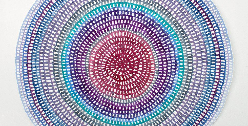 Original Crochet Web Mandala No.137 // 430mm