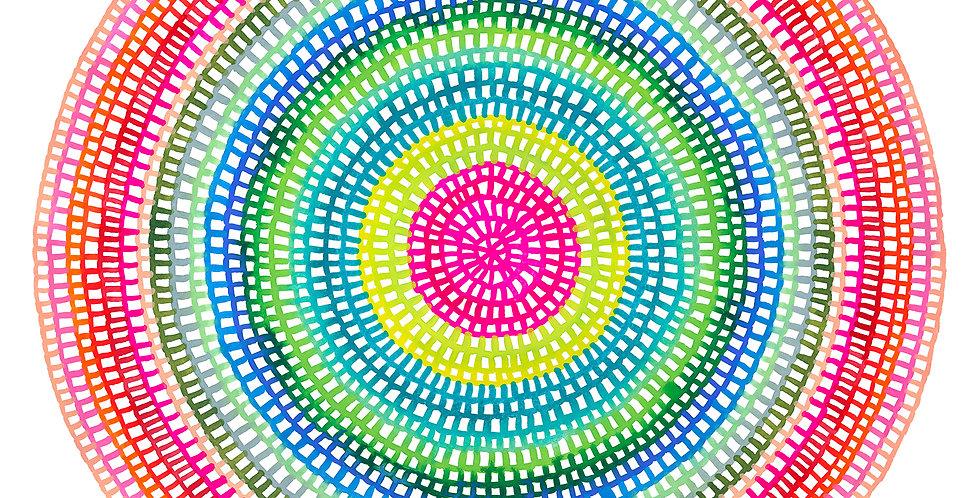 Crochet Web Mandala  No.106 // Limited Edition Print