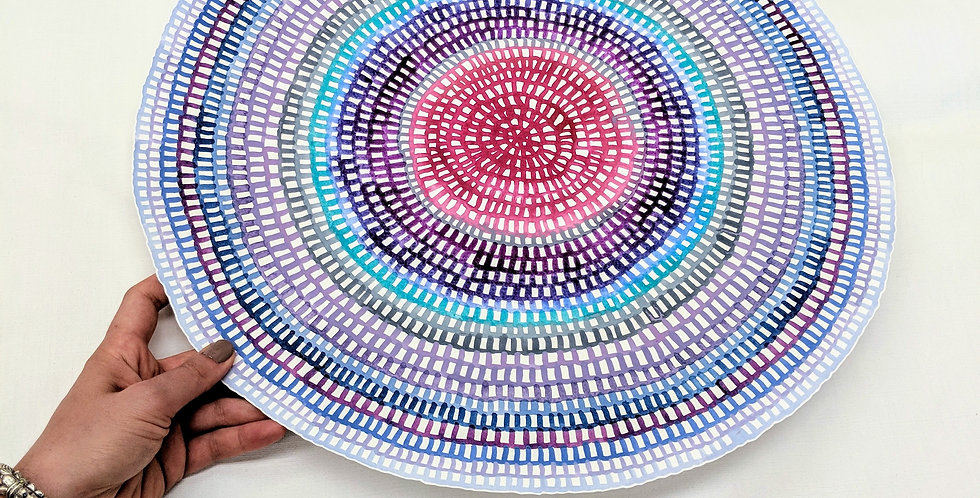 06# TEMPLATE Original Crochet Web Mandala