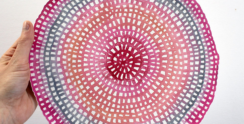 *GENUINE CRYSTAL* Original Crochet Web Mandala
