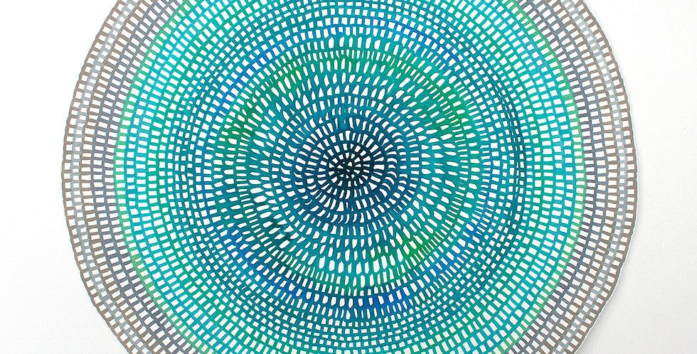 Original Crochet Web Mandala No.152 // 470mm