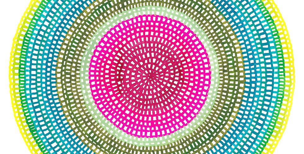 Crochet Web Mandala  No.119 // Limited Edition Print
