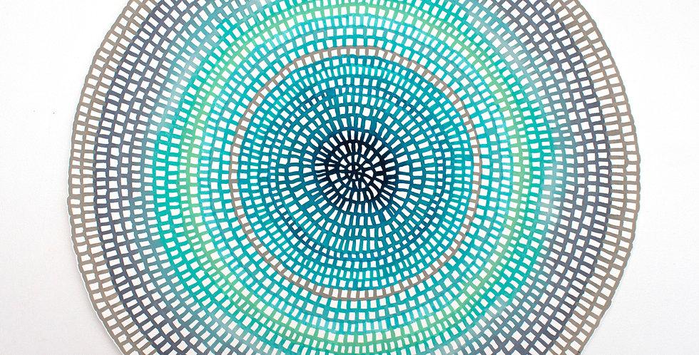Original Crochet Web Mandala No.153 // 430mm