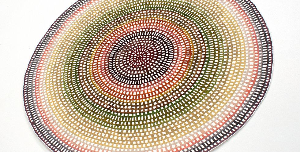 Original Crochet Web Mandala No.172 // 445mm