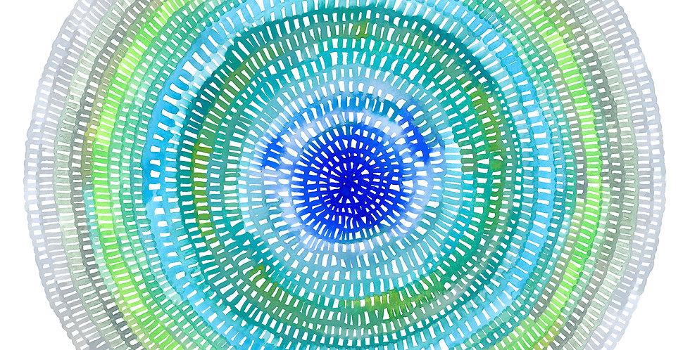 Crochet Web Mandala  No.121 Limited Edition Print