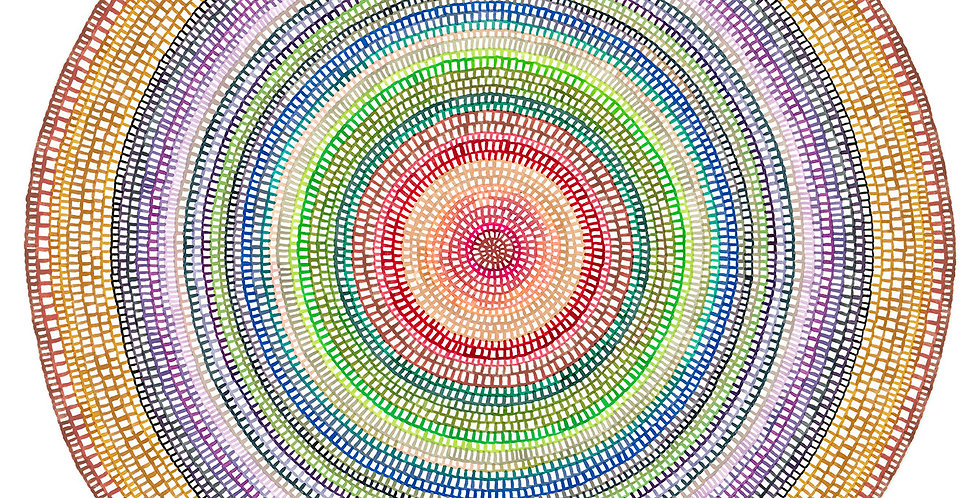 Crochet Web Mandala  No.158 // Limited Edition Print