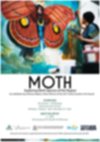 MOTH Exhibition Poster, Chelsea Hopkins-