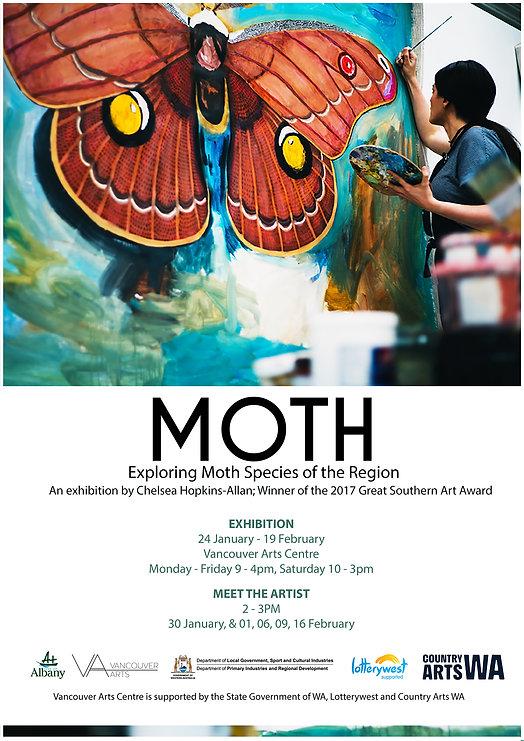 MOTH Exhibition Poster, Chelsea Hopkins-