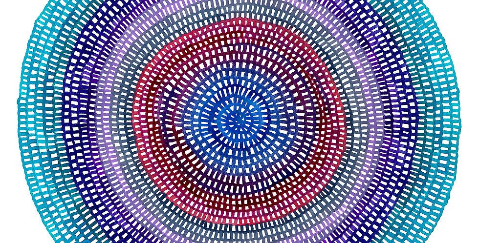 Crochet Web Mandala  No.128 // Limited Edition Print