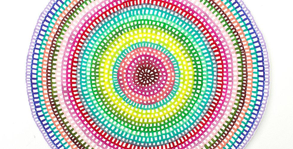 Original Crochet Web Mandala No.161 // 380mm