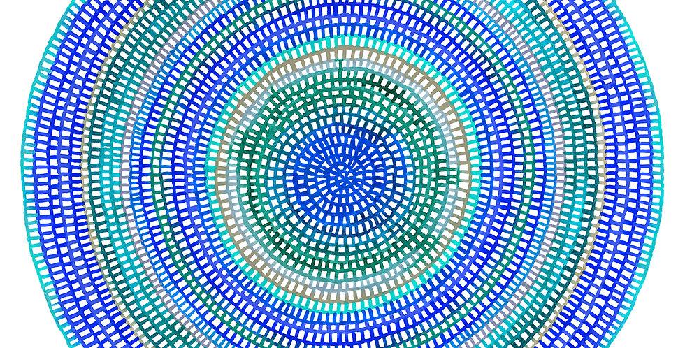 Crochet Web Mandala  No.112 // Limited Edition Print