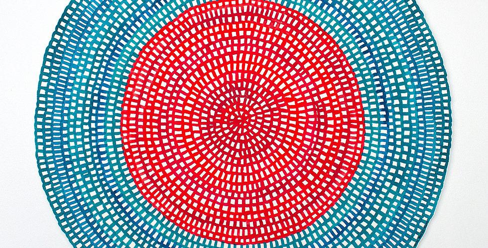 Original Crochet Web Mandala No.110 // 400mm