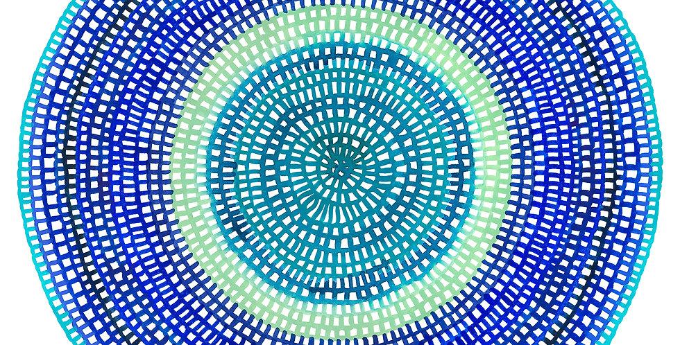 Crochet Web Mandala  No.141 // Limited Edition Print
