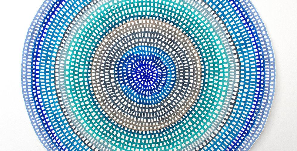 Original Crochet Web Mandala No.164 // 400mm