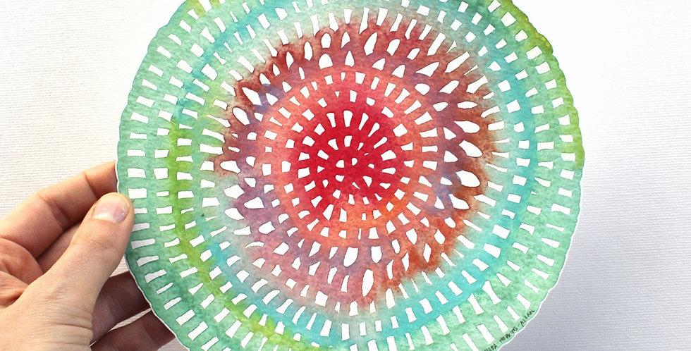 Original Crochet Web Mandala