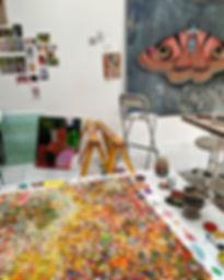Niguza eucesta Moth painting in progress