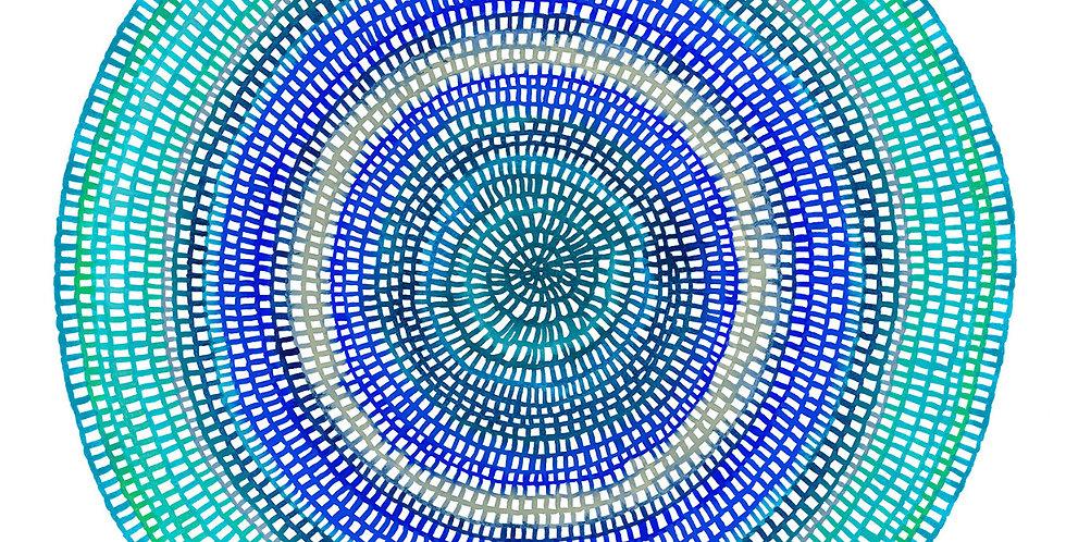 Crochet Web Mandala  No.150 // Limited Edition Print