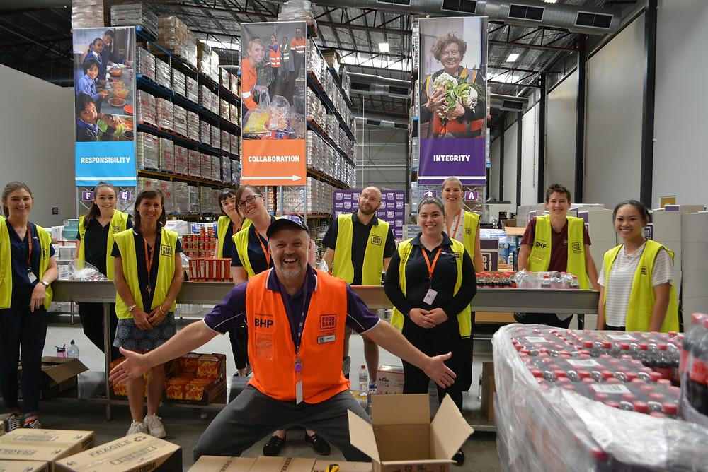 Veritas team in their warehouse
