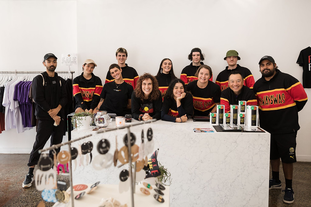 Clothing the Gaps team photo in store