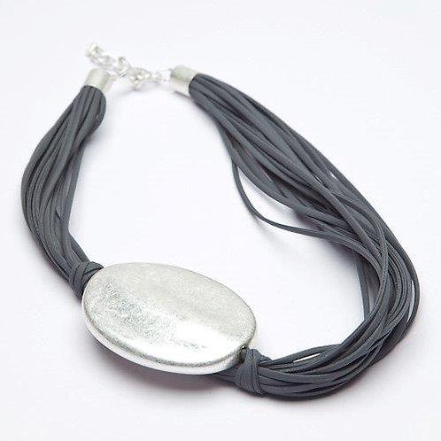 Multi Stranded Silver Pendant Necklace