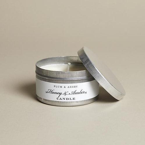 Plum & Ashby Honey & Amber Tin Candle