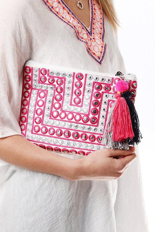 Lexie Colour Pop Tassel Clutch Bag