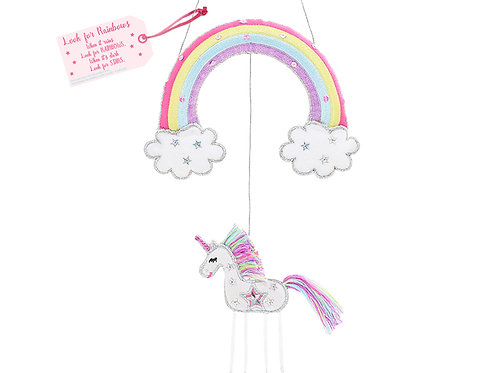 Unicorn - Look for Rainbows -  Hanging Decoration