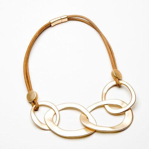 Gold Interlocking Ring Necklace