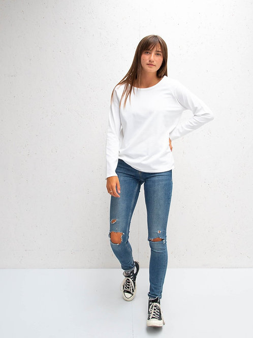 Chalk Tasha Cotton Top