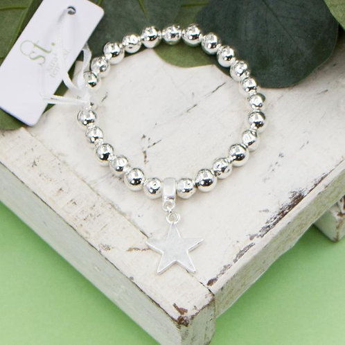 Star Charm Bead Bracelet