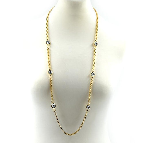 Gold & Crystal Necklace