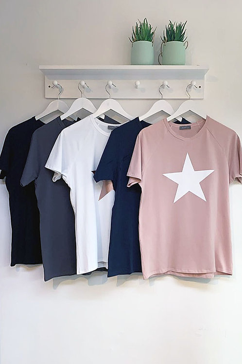 Chalk Darcey Cotton Star Motif Tee
