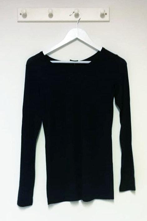 Plain Long Sleeve T Shirt Top