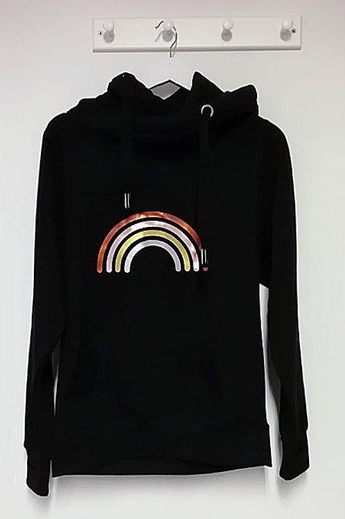 Neon Marl Black Metallic Rainbow Hoodie