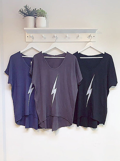 Susie Graphic Tee - Lightening Bolt
