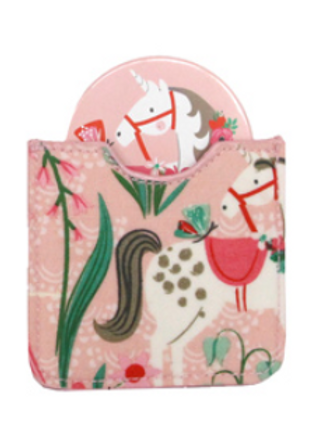 Gisela Graham Flower Girl Pink Mirror & Case