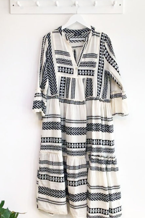 Tayanna Aztec Midi Dress