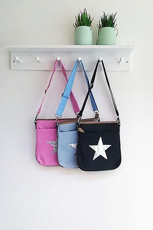 Stella Silver Star Cross Body Bag