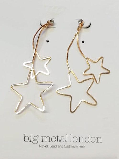 Megan Silver Star Earrings
