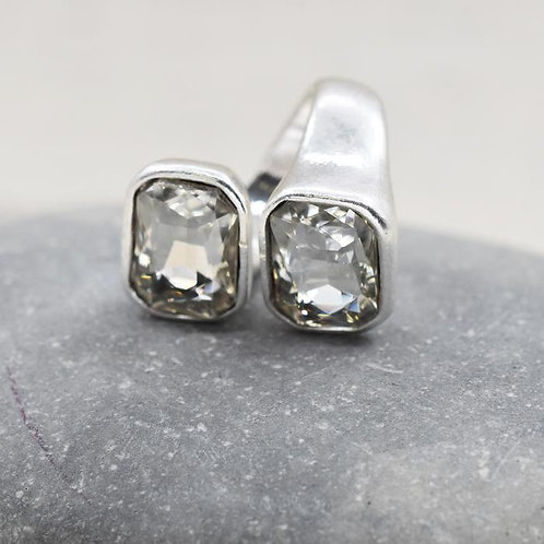 Double Crystal Wrap Style Ring