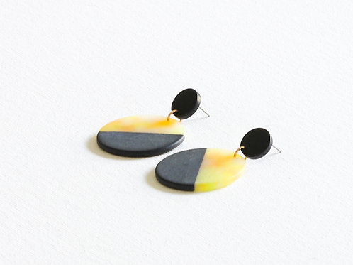 Audette Two Tone Resin Earrings