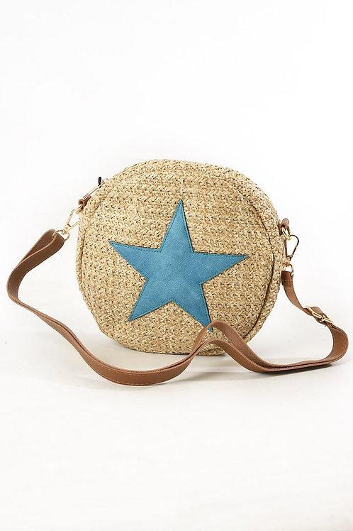 Mila Star Round Straw Handbag