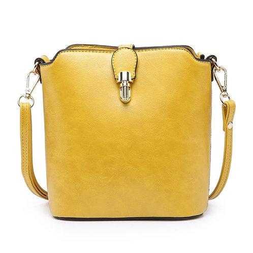 Small Plain Coloured Handbag with Clasp