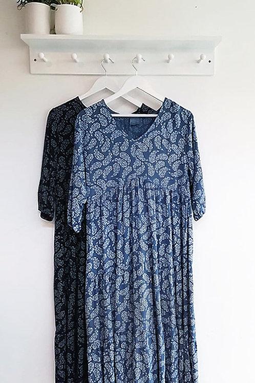 Heather Paisley Print Tiered Dress