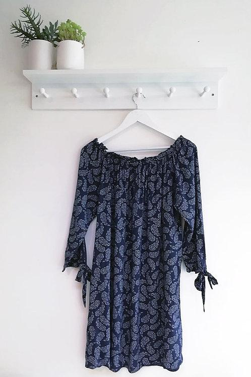 Heather Paisley Print Gypsy Dress